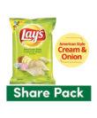 Lays Potato Chips - American Style Cream & Onion Flavour, 95 gm