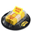 """Post-it Flags, """"Sign Here"""", Yellow, 1-Inch Wide, 200/Dispenser (680-HVSH)"""