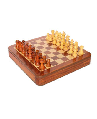 Craftgasmic Square Wooden Chess and Magnetic Pieces