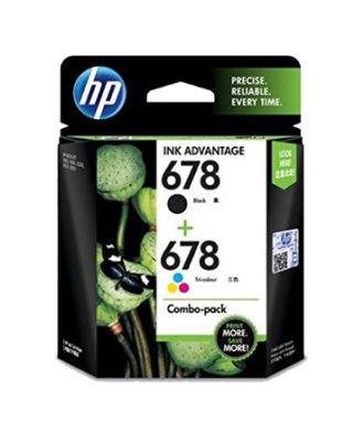 HP 678 Combo-pack Black and Tri-color Ink Advantage