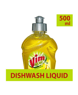 Vim Dishwash Gel - Lemon, 500 ml