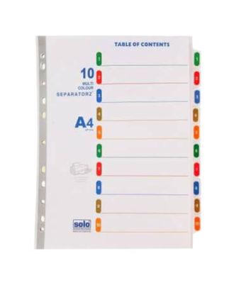Huajie 1 to 10 Plastic file separator