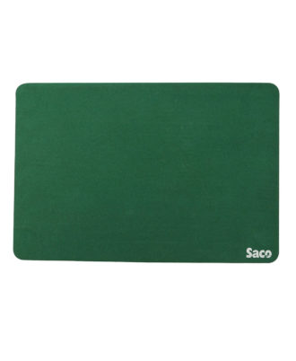 Saco Non-Skid Velvet Fabric gaming big size Mousepad - (Green)