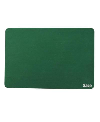 Saco Non-Skid Velvet Fabric gaming big size Mousepad - (Green)